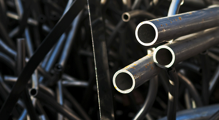 scrap metal pipes